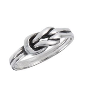 Sterling Silver Knot Ring 5 Jewelry New With Tags
